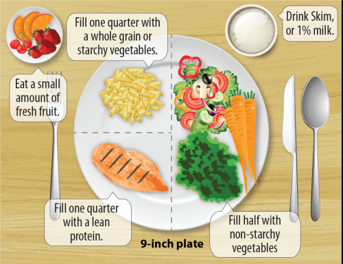 small resolution of diabetic 9 inch food plate breakdown
