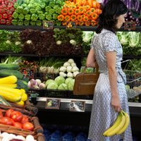 A woman shopping for fresh produce