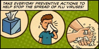 Take everyday preventive actions to help stop the spread of flu viruses!