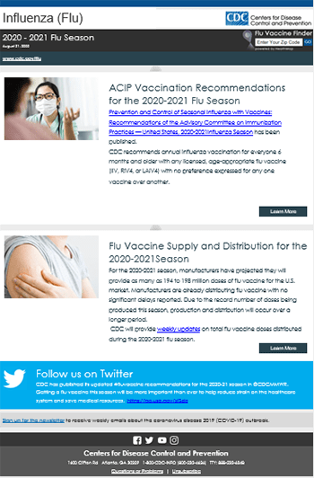 Subscribe to Flu Email Updates   CDC