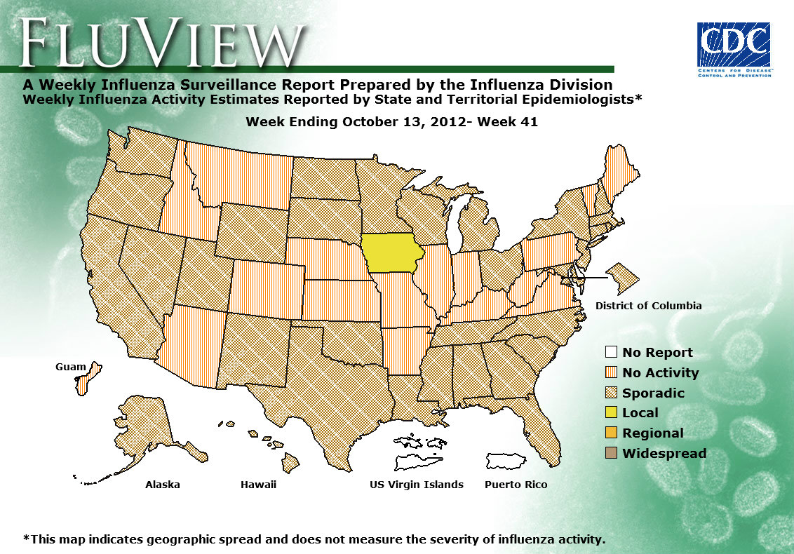 Weekly Flu Activity Map: Week 41