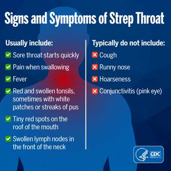 Worried your sore throat may be strep?   CDC