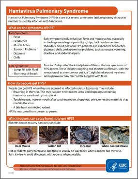 CDC - Hantavirus Pulmonary Syndrome (HPS) - Hantavirus