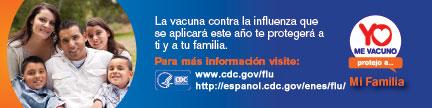 La vacuna contra la influenza que se aplicara este ano te protegera a ti y a tu familia.