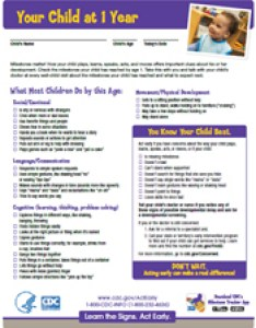 Milestone checklist checklists year also important milestones your baby by one cdc rh