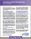 Click here for Developmental Screening Fact Sheet
