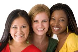 Photo: Three women smiling