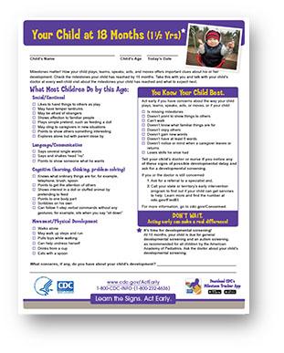 WIC Developmental Milestone Checklists | CDC