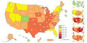 2019 Adult Obesity Prevalence Maps