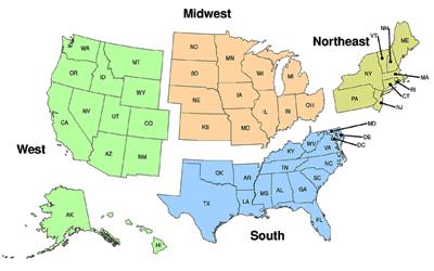 NREVSS | Coronavirus Regional Trends | CDC