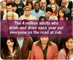 Graphic: Less than 2% of adults report drinking and driving each year, but they put everyone on the road at risk.