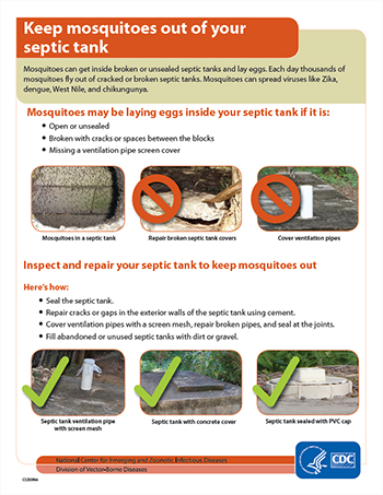 Keep mosquitoes out of your septic tank factsheet thumbnail