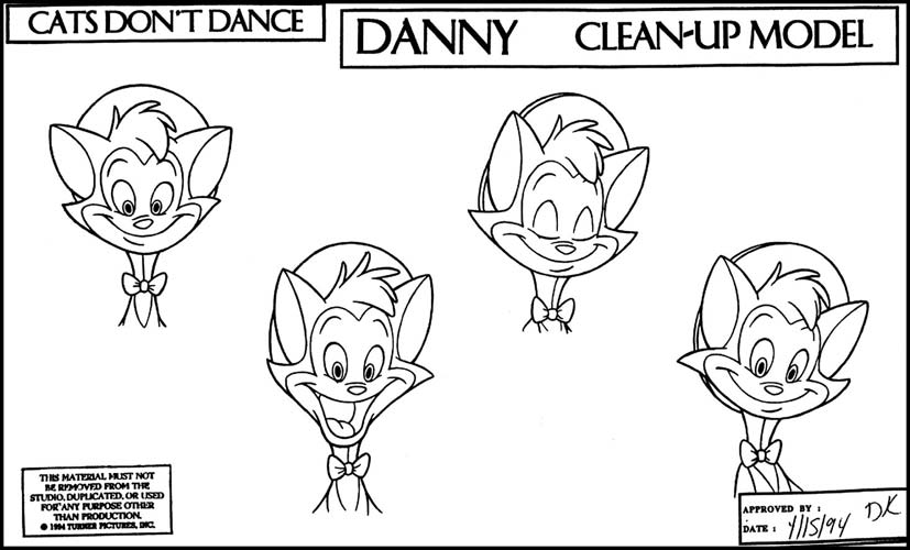 The Cats Don't Dance Production Art Page