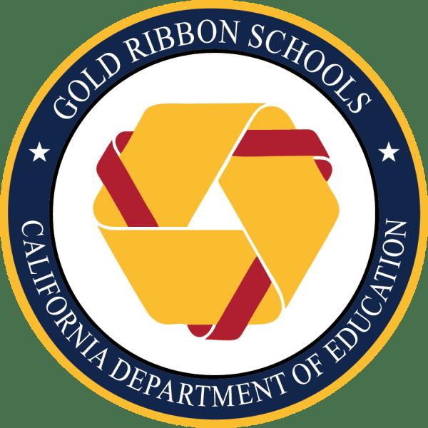 Gold Ribbon School Logo California