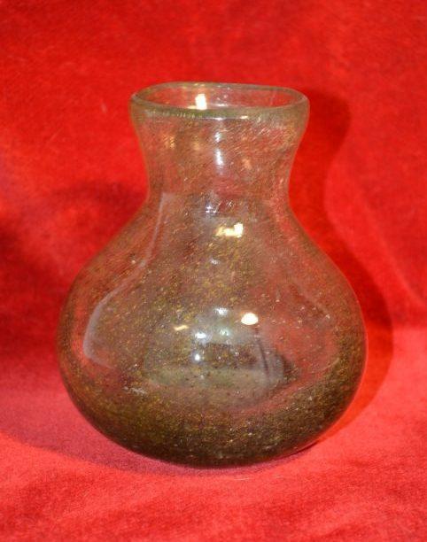 Biot: vase verre soufflé