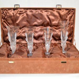 """Daum: """"Les Cerfs"""", service de verres par Jean Marais"""