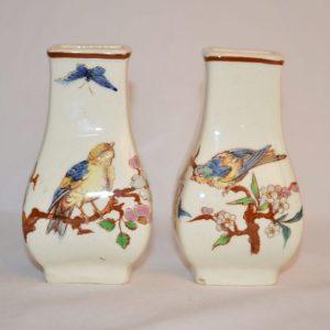 Paire de petit vases début XIX-porcelaine