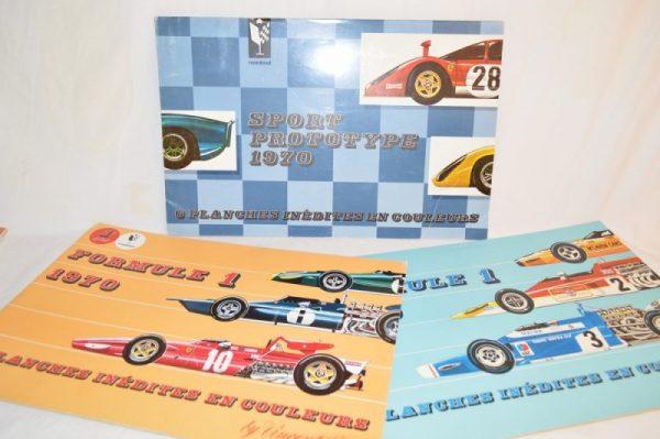 20 Planches inédites en couleurs sport prototype 1970 - by Vincen