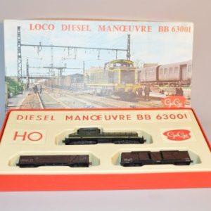 GéGé - HO : coffret loco diesel manœuvre - BB 63001