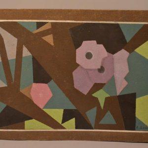 Alfred LESBROS (1873-1940) - composition Gouache