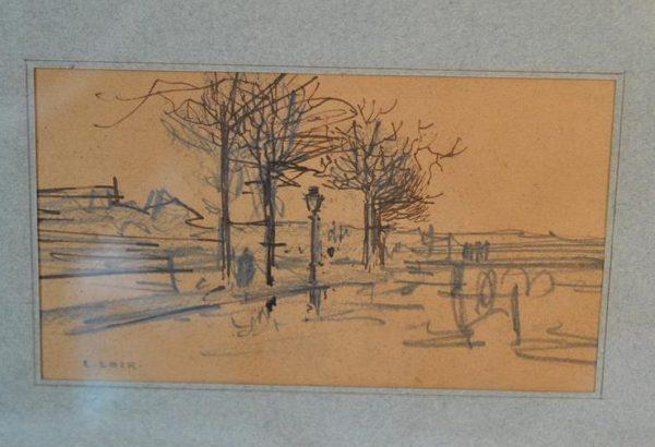 Luigi LOIR (1845-1916) - Deux dessins encadré