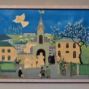 Odette COLLON (1926) - Art naïf - l'état de grâce