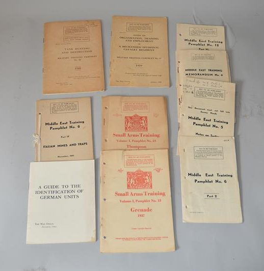 Brochures -instructions militaire -British War Office – Seconde Guerre mondiale -ww2