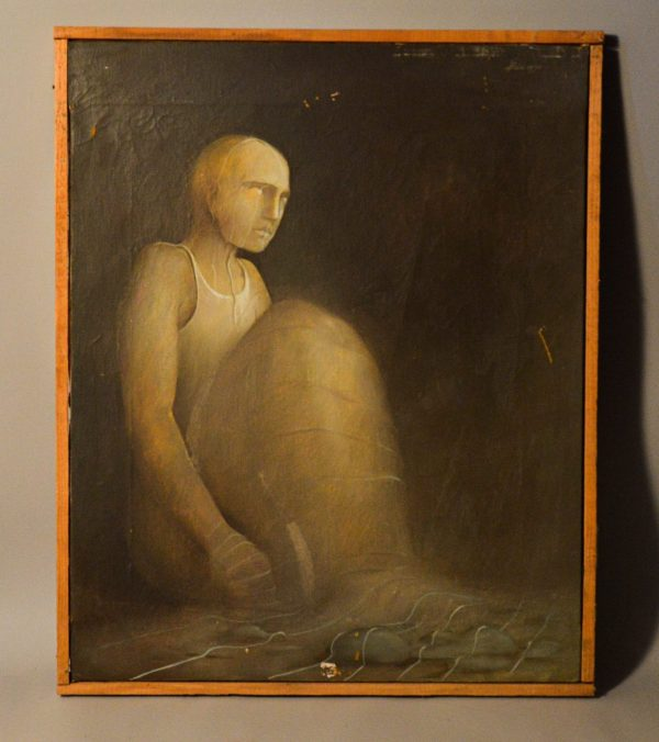 Adrian PAIU (1966) : Tableau Personnage assis