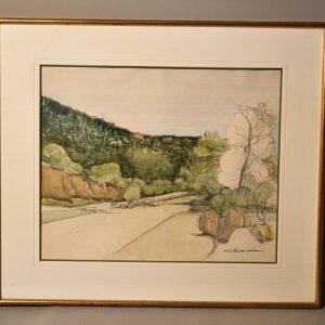 Claude ABBA (XX): Paysage dessin aquarelle