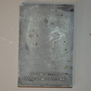 Plaque commémorative du compositeur Anton Bruckner de 1938