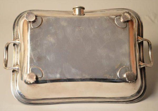 MARPLES & CO Sheffield - Plat de service - réchaud - métal argenté