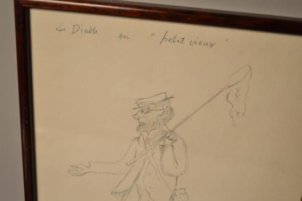 René Victor AUBERJONOIS - Dessin - Le diable en petit vieux