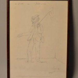 René Victor AUBERJONOIS (1872-1957) - Dessin - Le diable en petit vieux