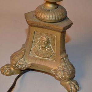 Chandelier - Pique cierge d'église en bronze et laiton XIX