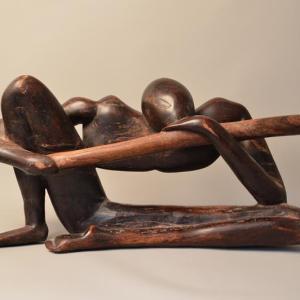 Statue en bois moitié du 20e siècle - Afrique/Ghana