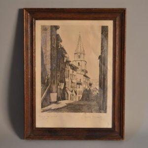 VALÈRE-BERNARD (1860-1936) - Gravure - Saint Victor / La montée des Acoules