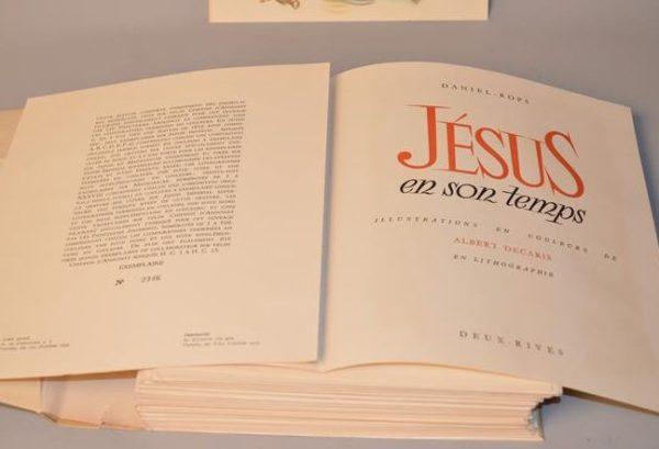 Jésus en son temps - de Daniel Rops , lithographie de Albert Decaris