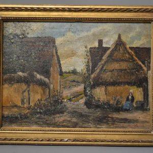Paul LECOMTE (1842-1920) - Tableau Scène rurale provençal