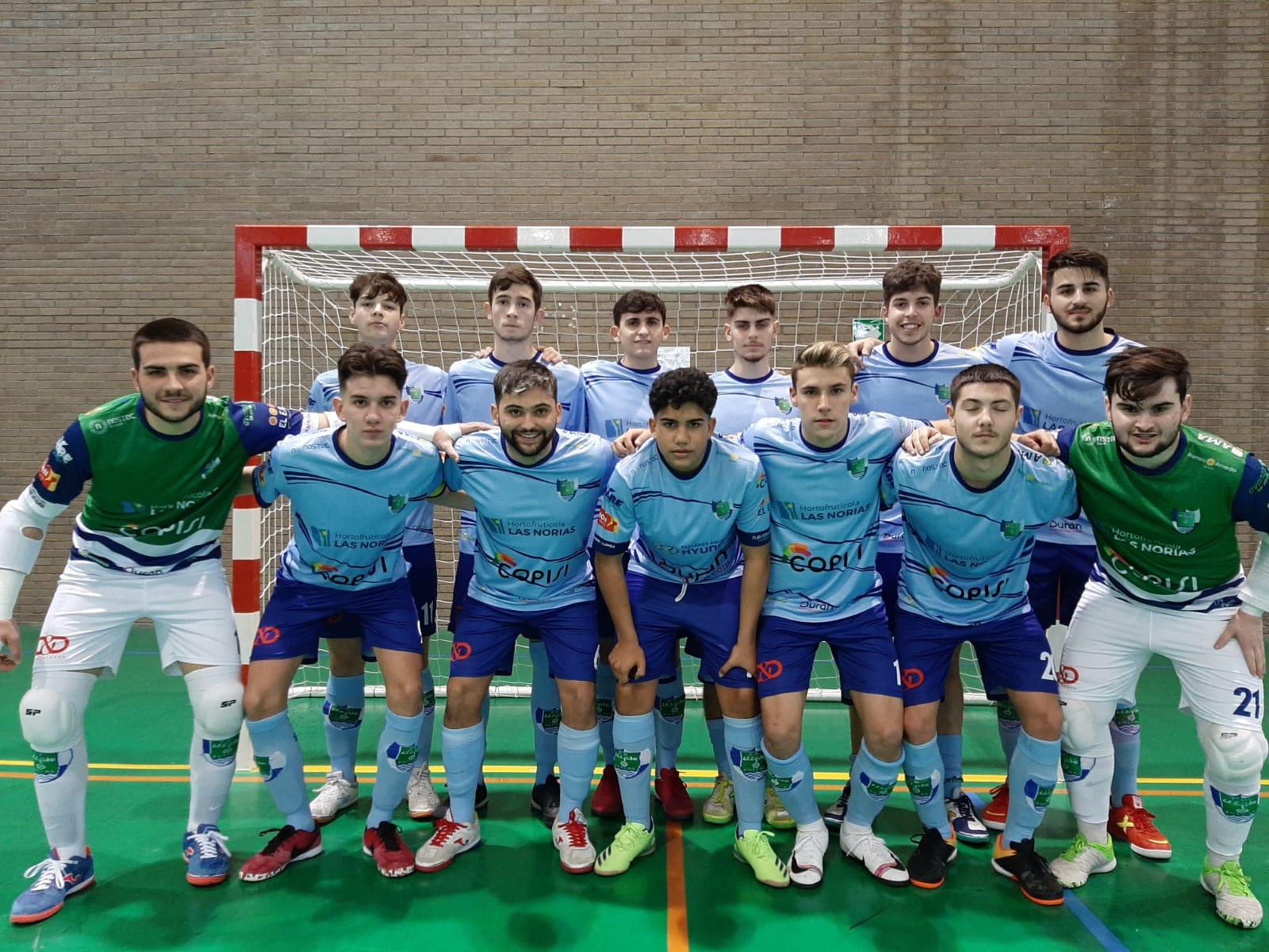 Contundente victoria del Juvenil 10-5 ante la Peña Real Madrid