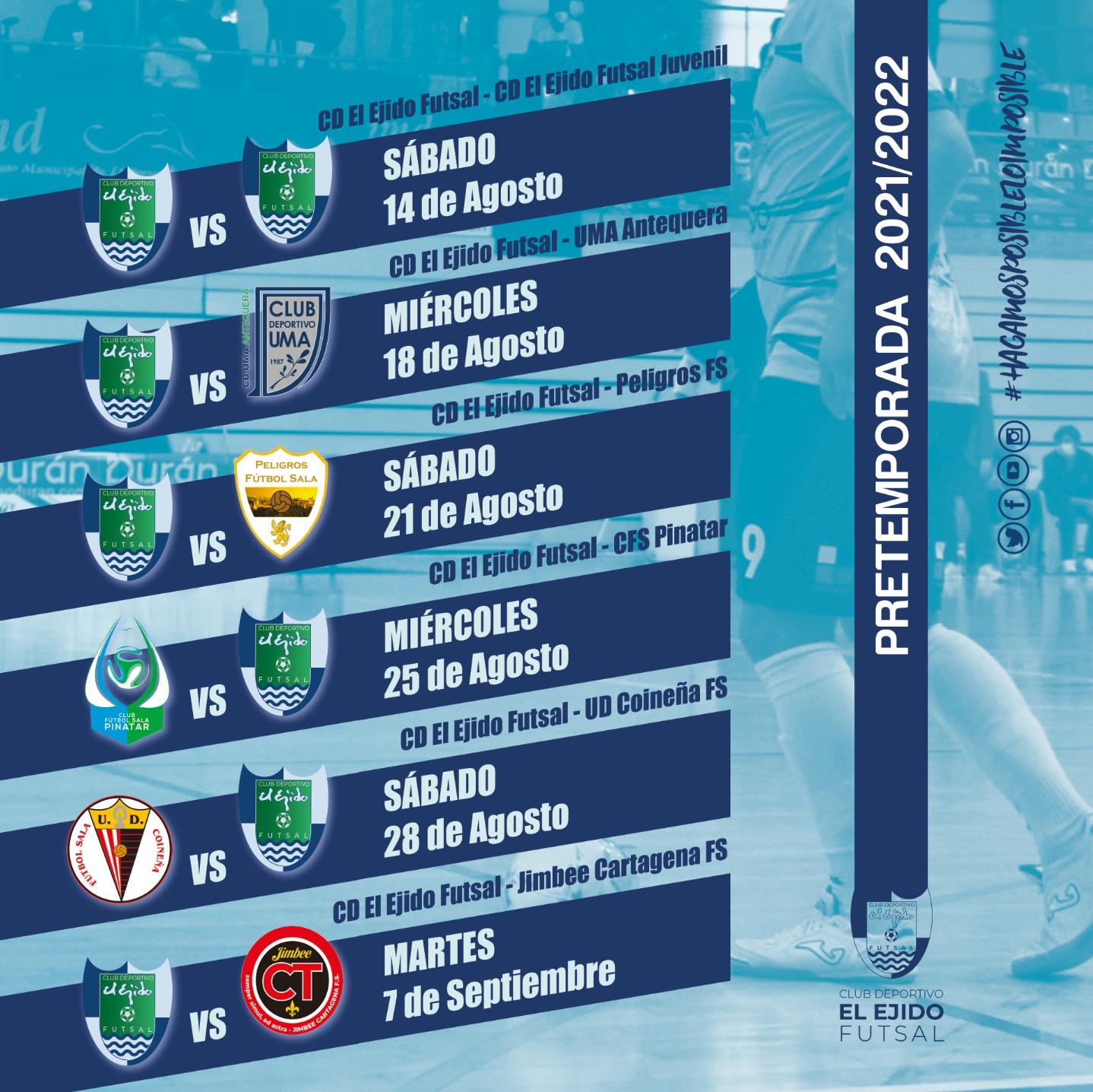 Pretemporada del máximo nivel para el CD Ejido Futsal