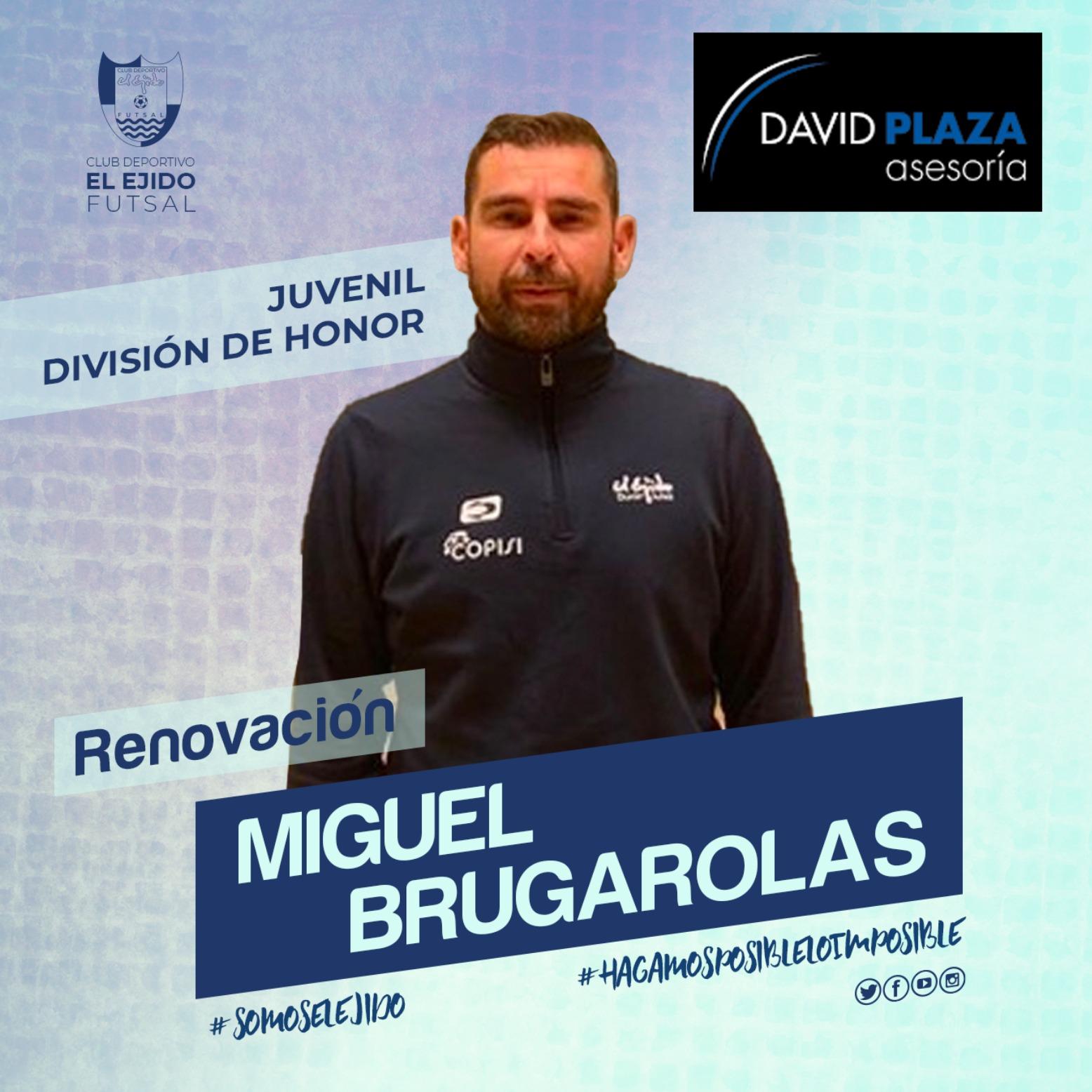 El técnico Miguel Brugarolas continuará al frente del Juvenil División de Honor