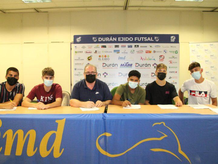 Garantía de futuro para el CD El Ejido Futsal con la renovación de cinco juveniles de la casa