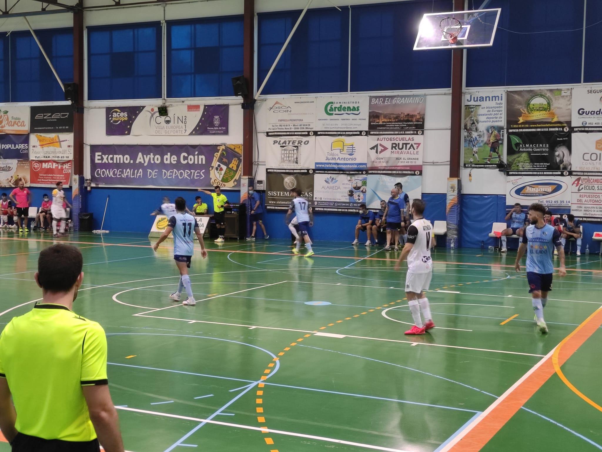 El CD El Ejido Futsal se impone 0-8 a la UD Coineña FS