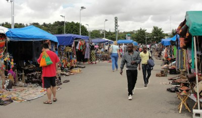 The market in Lusaka