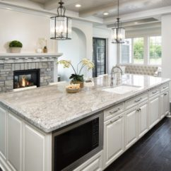 Granite Kitchen Countertops Pictures Themes For Kitchens Marble Quartz Bathrooms Taupe White In