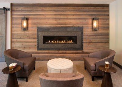 One Piece Granite Fireplace