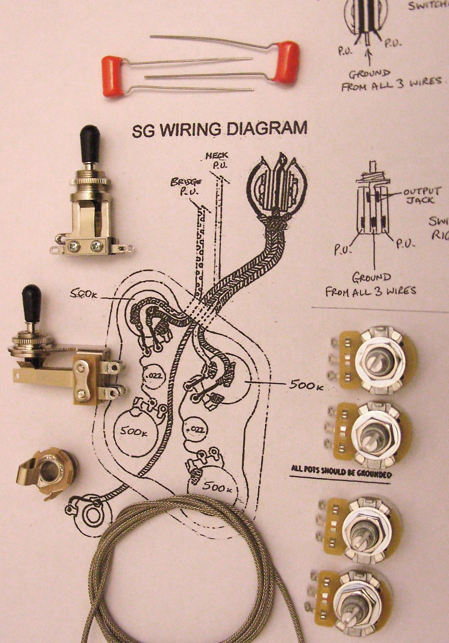 3 way toggle switch guitar wiring diagram 7th grade math venn worksheet kit for sg with short switchcraft