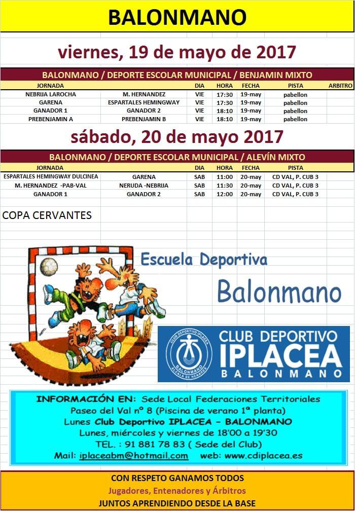 JORNADA ESCUELAS 19,20-05-2017