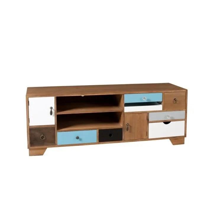 milan meuble tv multi rangements 122 cm