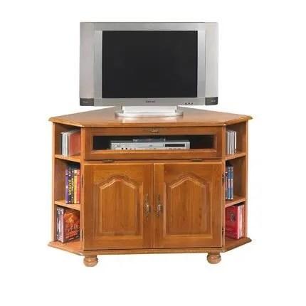 meuble tv d angle chene pieds boule